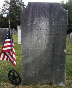 Samuel Osborn, Esq. [abt. 1734-28 June 1813] Revolutionary War Patriot