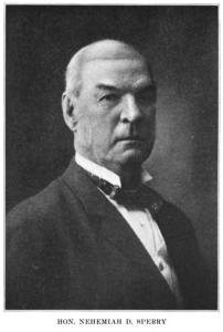 U. S. Congressman Nehemiah Day Sperry [1827-1911]